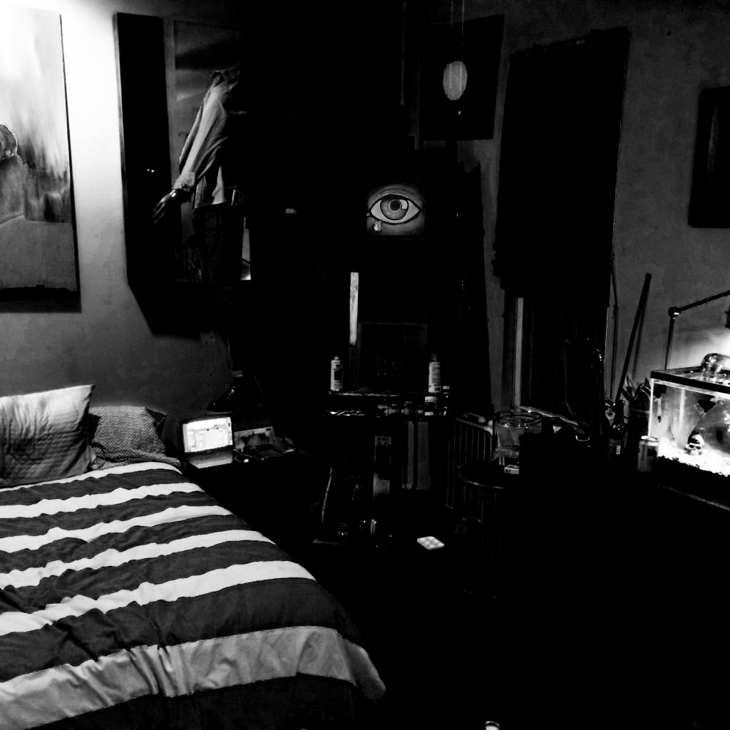 Extracted Bedroom Dark B&W