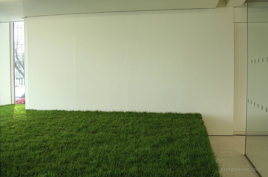 My Very Own Private Garden, 2009, installation with turf, plastic mdf, Tent Gallery, Edinburgh, Scotland