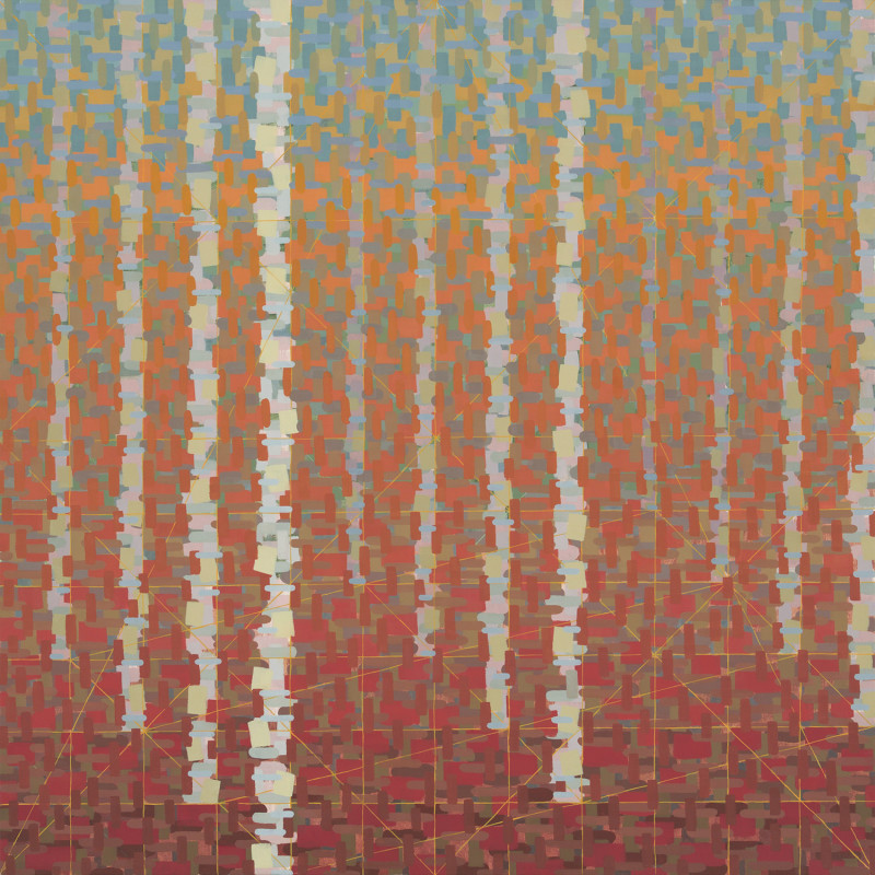 "Rachael Wren, Outlook, 2014, oil on linen, 36"" x 36"""