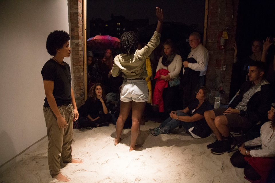 "Nia & Ness during ""The City is Our Playground,"" an evening of performance inspired by i Collective, 2016"